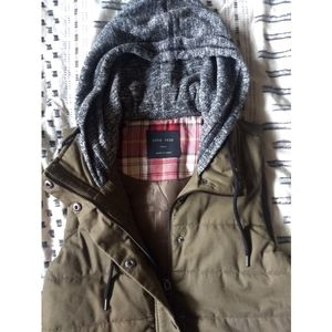Padded dark olive winter vest